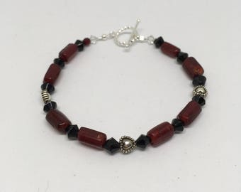 Glass Beaded Bracelet 8in