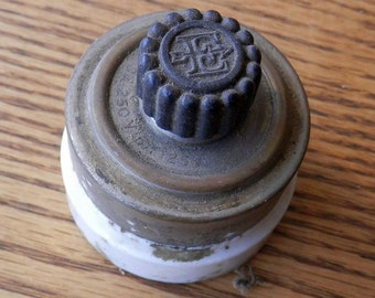 one antique surface mount twist electric switch
