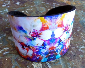 Springtime in Paris polymer clay cuff