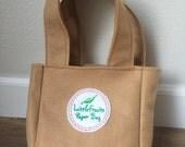Felt Tote Bag for Kids - Felt Pretend Paper Grocery Bag - Brown Felt Pretend Paper Bag - Brown Reusable Felt Shopping Bag for Children