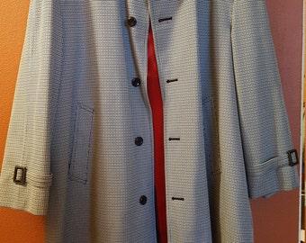 Vintage John Weitz Harbor Master Men's Houndstooth Coat
