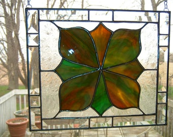Victorian Beveled Stained Glass Panel Sun Catcher