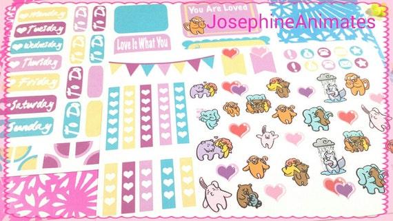 Valentine Planner Sweet Heart Planner Stickers Fun