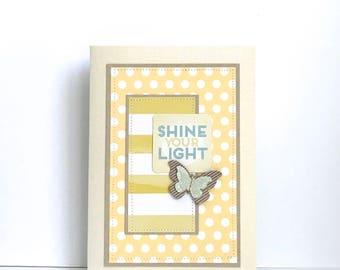 Shine Your Light Handmade Card