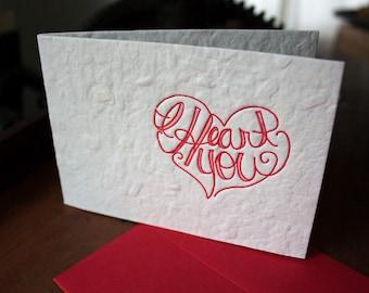 I Heart You - Card