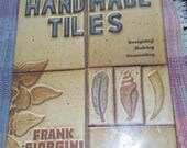 Handmade tiles by Frank Giorgini, pottery handbuilding, hand building, pottery how to, slab made pottery, Lark ceramic instruction book