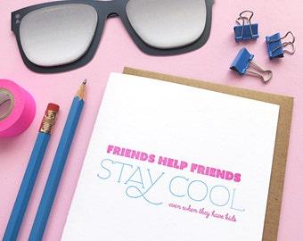 stay cool letterpress card