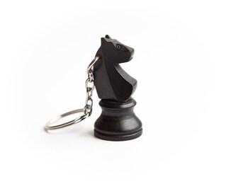 Custom listing - 45 knight chess piece key-rings (22 black knight & 23 white knight chess piece key chains)