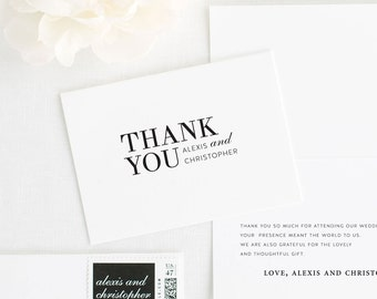 Urban Glamour Thank You Cards