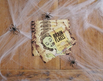 Brain Flakes Retro Horror Housewife Set Of Five Postcards