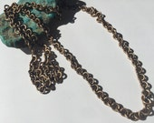 Bronze Chain Necklace, 26 inch length continuous without clasp