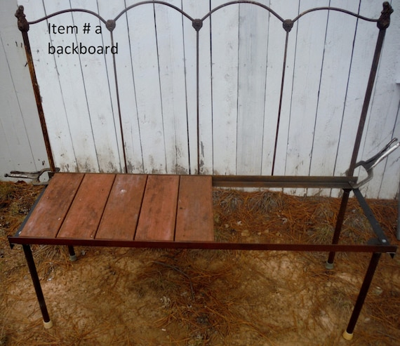 Antique Headboard Bench: Items Similar To Antique Metal Bed Headboard Made Into A