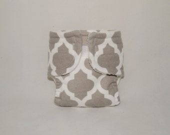 Doll Diaper - Gray Pattern - Size Large