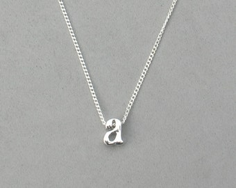 Rhodium Initial a Necklace