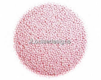 PASTEL PINK NONPAREILS Edible Sprinkles Cakepops Cupcake CandyConfetti Decorations 2oz.