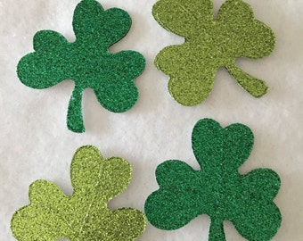 Glitter Shamrock Stickers-Documented Faith-St Patricks Day Clover Stickers-Bible Journaling-Planner Stickers-Card Making-Irish-St Pats Day