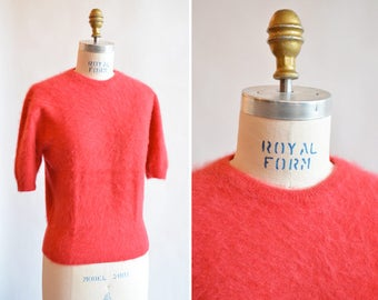 Vintage 1960s ANGORA wool sweater top