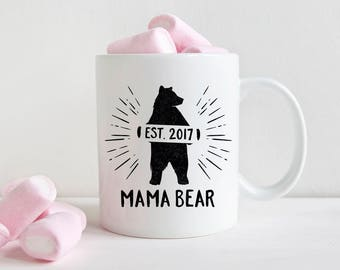 Baby Shower Gifts New Mom Gift for Mom Pregnant Mom Gift for Mom Mug Personalized Baby Shower Gift Mom Coffee Mug Gifts for Mom Mama Bear
