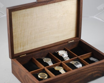 Watch Box, Mens Watch Box-Holds 8