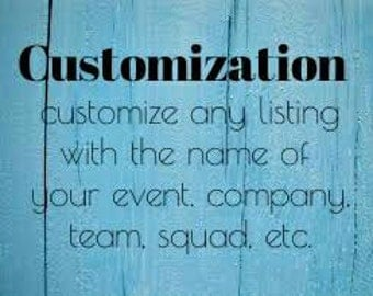 Customization for any listing