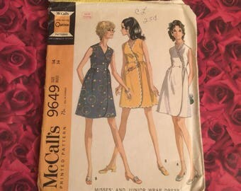 60's Vintage Dress Sewing Pattern
