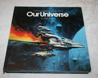 Vintage Hard Cover Book National Geographic Picture Atlas of Our Universe By Roy A. Gallant 1980s 1986