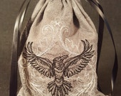 Raven Embroidered Tarot Bag/Pouch