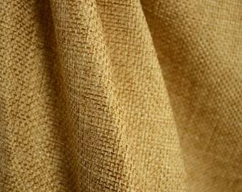 Linen Camel Basket Weave Texture Fabric