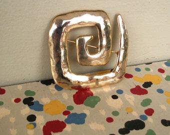 Vintage J Jonette Abstract Swirl Brooch