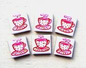 Teacup Magnet, Fridge Magnet, Cup of Tea Magnet, Stationary Magnet, Gift for Teacher, Refrigerator Magnet