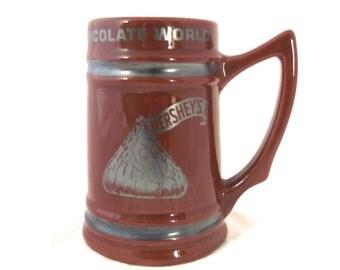 Hershey's Chocolate World, Vintage Ceramic Stein in Brown (G1)
