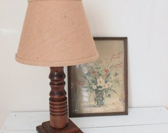 Small Turned Wooden Lamp