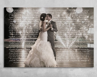 Wedding Vows Framed, Anniversary Gift, Wedding Vow Art, Wedding Vows Keepsake, Personalized Canvas, Vows On Canvas, Gift For Anniversary