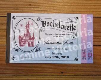 Vintage E Ticket 3 Page Invitation, Bachelorette