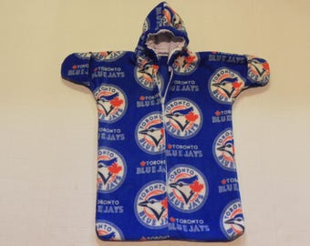 MLB  Toronto Blue Jays Printed fleece Baby Bunting Coat Newborn   0 to 6 months