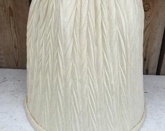 Herringbone Tuck Cream Lamp Shade UNDER 20