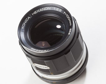 Konica Hexanon 100mm F2.8 vintage manual focus lens