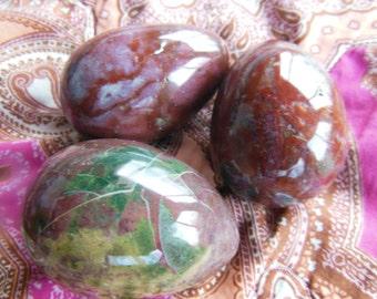 EXTRA LARGE Fancy Jasper Agate Egg Crystal Undrilled