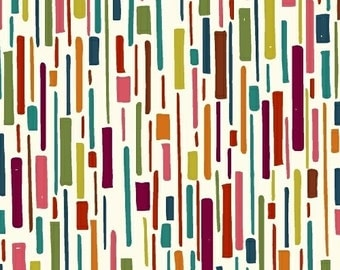 Hand Maker by Natalie Barnes of Beyond the Reef for Windham Fabrics - Full or Half Yard Multicolor Dashed Abstract Modern