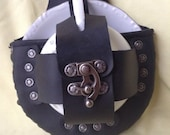 Steampunk Black Leather Tea Cup Holster Set