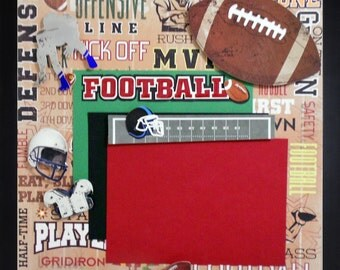 DEFENSIVE LINE Premade Memory Album Page (Gallery Wood Frame Sold Separately)