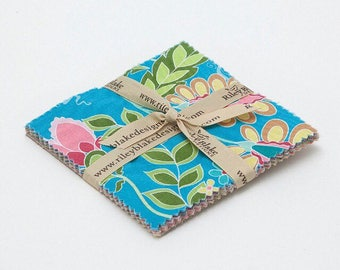 "Riley Blake ""Fantine"" - Charm Pack / Stacker 5 Inch Fabric Squares for Quilting, Crafting, Sewing"
