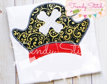 Pirate Hat 1 Applique Design Machine Embroidery INSTANT DOWNLOAD
