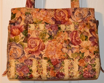 READY To SHIP Quilted Handbag, Purse, Bag, Tote Bag, Bow Bag, Andrea Bag Cardinal Fabri MAdE and REaDY to SHIP by Quilted Creations By Me