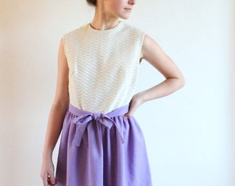 60s dress - lilac full skirt 1960s party dress