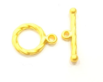 4 sets Gold Plated Toggle Clasp Findings  G352