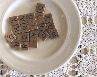 Scrabble Letters Lot of 35 Alphabet Tiles Destash Jewelry Making Tiles