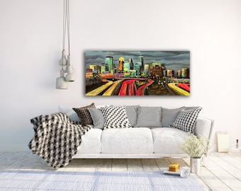 Minneapolis Skyline Art, Minneapolis Skyline Wall Art, Minneapolis City Scape, Minneapolis Decor, Twin Cities Art, Minneapolis Minnesota