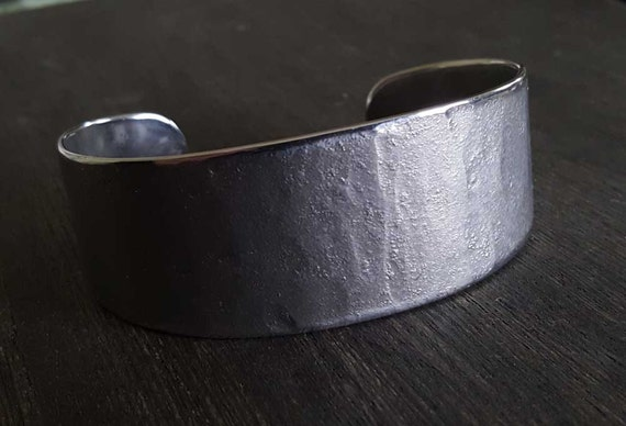 Silver Bracelet Hypoallergenic~ Stainless Steel Cuff Bracelet ~ Hand Forged Anvil Textured Unisex Jewelry ~ Signed Original Custom Sizes