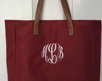 Personalized tote bag/ bridesmaids tote/ wedding tote/ monogrammed tote bag/ beach bag/ teacher bag/ diaper bag